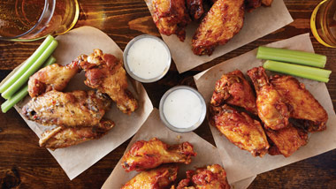 Chicken wings with ranch dressing